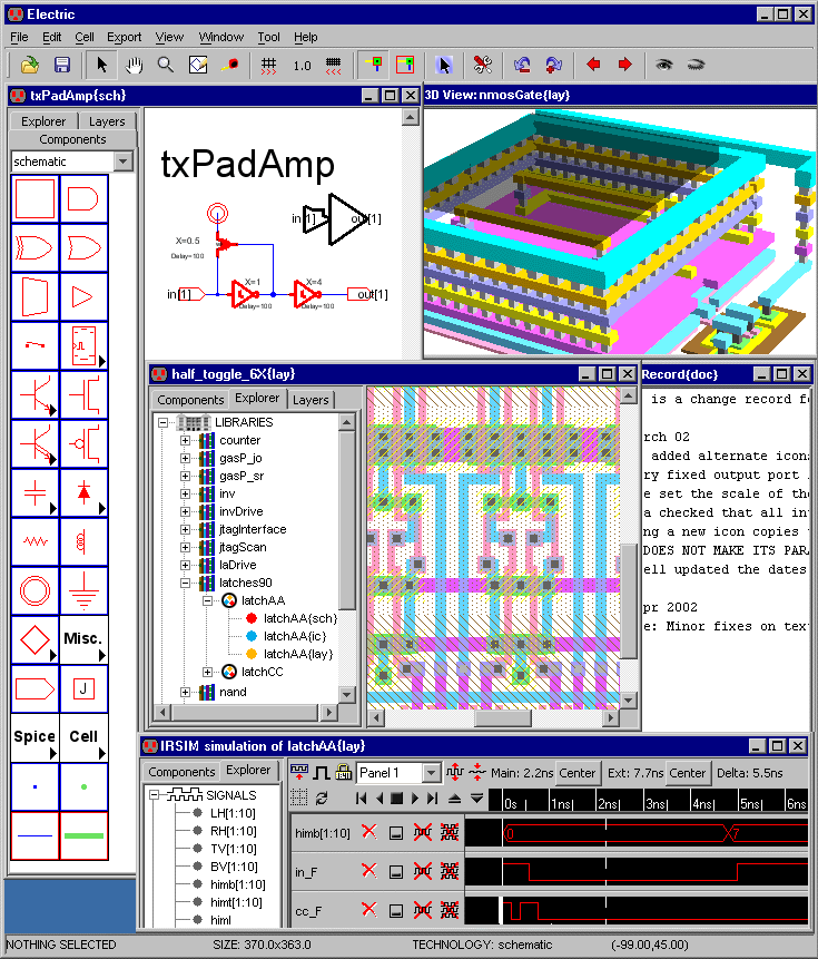 using the electric vlsi design system version 907