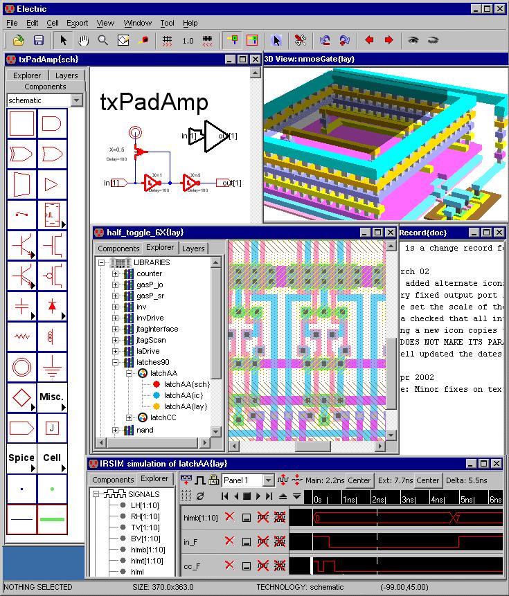 using the electric vlsi design system version 9 07 rh staticfreesoft com Electrical Schematic Symbols Simple Electrical Schematic